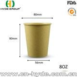 Natürliche Farbe 12 Unze-Bambuspapierkaffeetasse