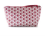 La alta calidad compone el bolso, bolso cosmético del maquillaje de la bolsa del recorrido con la impresión de la insignia