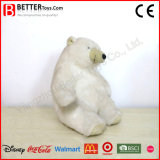 Jouet mou animal bourré d'ours blanc de caresse de peluche pour des gosses de bébé