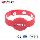 O PVC impermeável reutilizáveis bracelete RFID para ginásio/Club