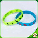 Form-kundenspezifisches Firmenzeichen-Silikonleuchtender Wristband für das Laufen