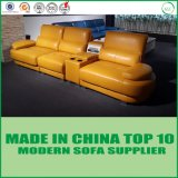 Einfacher Entwurfs-modernes echtes Leder-Sofa