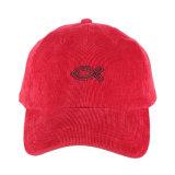 Custom пустым оптовой рубчатый вельвет Папа Red Hat бейсбола крышки и головные уборы