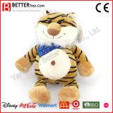 Brinquedo macio do luxuoso do tigre do animal enchido do presente da promoção para miúdos/crianças do bebê