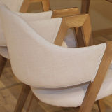 La vida moderna habitación Hotel Restaurante silla de comedor Muebles de madera (D23)