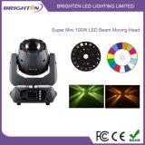 Mini LED 100W Têtes de feux de déplacement du faisceaux de l'étape