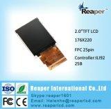 "LCD表示2.0の""ドライバーIC Ili9225b Spi 25pinが付いているQcif 176X220 TFT LCDの表示"