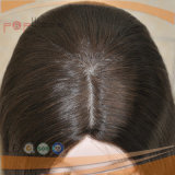 Lange Menschenhaar-Haut-Frauen-Perücke (PPG-c-0100)