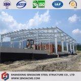 低価格の波形の鋼板が付いているプレハブの構造小屋の倉庫