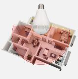 Mini Fisheye lampadina di Wip014 360 gradi di obbligazione domestica dell'indicatore luminoso della macchina fotografica di WiFi di macchina fotografica panoramica del IP