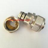 Rosca NPT Material de cobre latón niquelado Adaptador de compresión