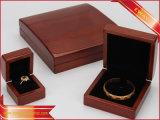 Rectángulo de madera de la joyería de la manera de lujo de la caja de embalaje