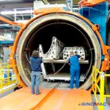 autoclave électrique de composés de chauffage de 2000X8000mm pour corriger des pièces de cubage