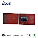 De promotie VideoBrochure van het Scherm van Punt 4.3 '' LCD voor de Uitnodigingen van het Huwelijk