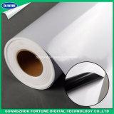 Impression à l'encre dissolvante extérieure de vinyle de collant de feuille de roulis de medias auto-adhésifs noirs mats de PVC
