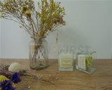 Etiqueta Privada vidro Aroma vela branca Copo de vidro jarra de vela de Massagem