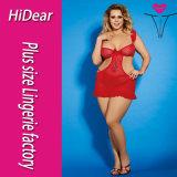 Plusgrößen-reizvoller VereinHalter rote Clubwear Wäsche für Form-Frauen