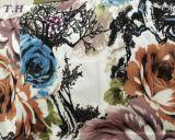 Paño exquisito grande del telar jacquar de la mano de obra del modelo de flor (FEP012)