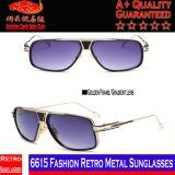 6615 óculos de sol retros do metal da forma