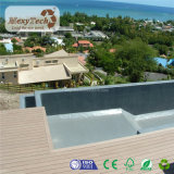 Hot of halls outdoor Wood Grain WPC Polywood Decking for Stairs