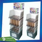 El pop de cartón comercial personalizada Expositor de suelo con ranuras para Cups/Taza, China cartón Expositor de suelo de la fábrica de rack