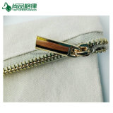 Caja del filtro orgánica llana simple del lápiz de la cremallera de la lona de la impresión de encargo