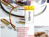 602540 батарея Li-иона Li-Полимера 3.7V 600mAh перезаряжаемые