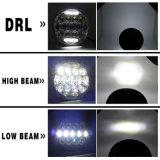 工場ジープのWranlgerオフロードTj Jkのハンマーのための防水75W Hi/Lo DRL天使の目のドライビング・ライトの前部7インチ円形LEDのヘッドライト