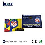 2.8 Zoll LCD-Bildschirm-Visitenkarte mit Auflösung 320*240