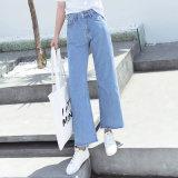 Losse en Nieuwe Manier Dame Jeans met het Speciale Openen van het Been (HDLJ0032-17)