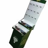 Présentoirs s'arrêtants de panneau de Rester-Papier d'étalage de carton avec des crochets