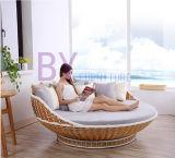 屋外のバルコニーの寝室の藤の振動椅子のハングのバスケットのロッキングチェア