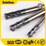 Fabrico de carboneto de tungsténio extremidade quadrada Mills para cortar as ligas de alumínio