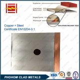 Placa de aluminio revestida de cobre para la barra de distribución conductora o acero revestido de cobre