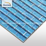 Retângulo de 8 mm do mosaico de vidro exterior preços de lado a lado