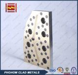 Плита плиты латунной бронзовой медной многослойной стали самосмазочная сползая износоустойчивая