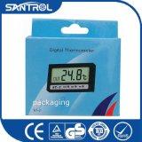 Pequeño termómetro plástico St-2 del congelador de Digitaces LCD