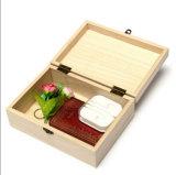 Hauptablagekasten-natürlicher hölzerner handgemachter Fertigkeit-Schmucksache-Kasten