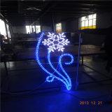 Coloritura subacquea di natale 100m 13mm RGB del LED che cambia l'indicatore luminoso nero della corda dell'indicatore luminoso LED per la decorazione