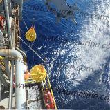 La grúa y pruebas de carga de Davit prueba bolsas llenas de agua