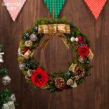 Dom Flores Secas naturais feitos à coroa de Natal para o Natal