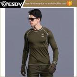 Desportos ao ar livre tácticas de espessura Long-Sleeve camisa térmica