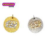 Etiqueta grabada insignia de la dimensión de una variable del corazón del oro y de la plata para Jewellry