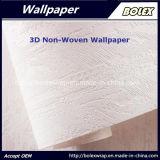 papel pintado natural no tejido del papel pintado 3D para la decoración casera los 0.53*10m