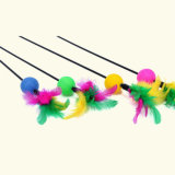 プラシ天および絹猫の棒猫の製品のおもちゃ
