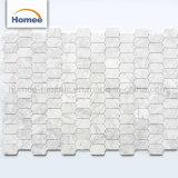 Mosaico italiano Waterjet di pietra naturale del marmo di disegno delle mattonelle di mosaico di vendita calda