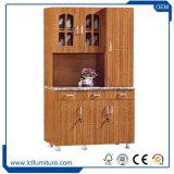 居間のキャビネットPVCアパートの食器棚デザイン