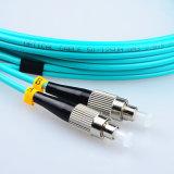 Om3 cordon de connexion de fibre optique à plusieurs modes de fonctionnement de duplex de PC du FC LC
