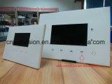 """Перезаряжаемые карточка 4.3 """" LCD выходя на рынок видео- с держателем"""