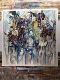 Dekorative Farbanstrich-abstrakte Segeltuch-Wand-Kunst-Mischfarben
